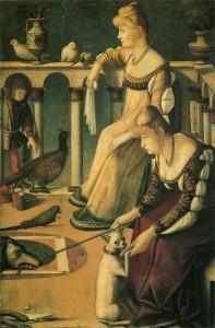 二人のヴェネツィア婦人(高級娼婦)