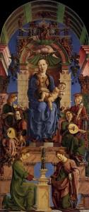 奏楽天使に囲まれた聖母子