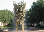 シラー広場の噴水
