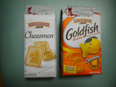 Pepperidge Farm Chessmen & Goldfish